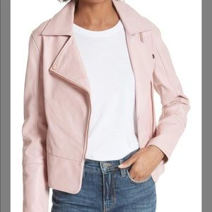 fashionable style authentic quality outlet boutique Brand new Ted Baker pink leather jacket NWT
